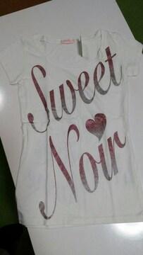 新品タグ付き・TRALALA 半袖Tシャツ・Fサイズ・ホワイト