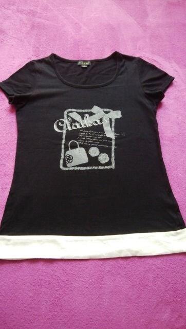 CLATHAS  クレイサス バイカラー Tシャツ 黒 38  < ブランドの