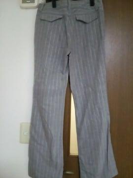 美品 スーツ ストライプ パンツ ズボン グレー