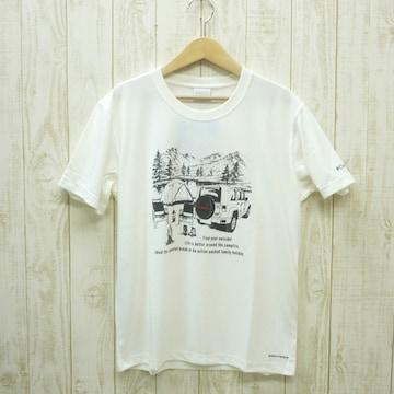 即決☆コロンビア特価CAMP半袖TシャツWHT/Mサイズ (L ) リラックスフィット