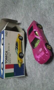 トミカ 青箱 ランボルギーニミウラSV 美品。