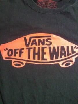 VANS ヴァンズ シンプル ブランド ロゴ 長袖 Tシャツ ブラック Sサイズ