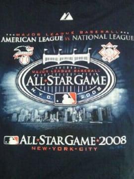 アメリカ 野球 大リーグ メジャーリーグ オールスター 記念 Tシャツ Lサイズ ネイビー 2008