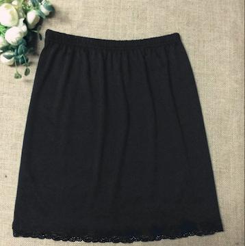 新品[8003]黒●ハートレース付ペチコート/インナースカート