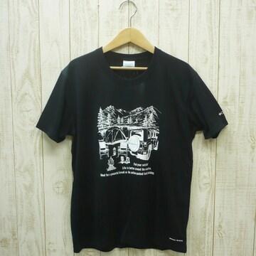 即決☆コロンビア特価CAMP半袖TシャツBLK/Lサイズ (XL ) リラックスフィット