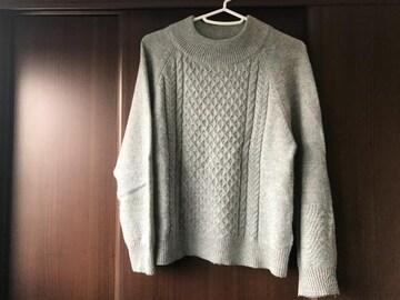 しまむら CLOSSHI 毛混ニット セーター ライトグレー M