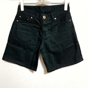【美品】ストレッチ カラーショートパンツ/UNIQLO/58.5cm/黒