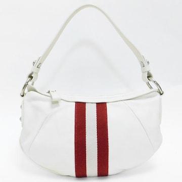 BALLYバリー ハンドバッグ レザー 白×赤系 良品 正規品
