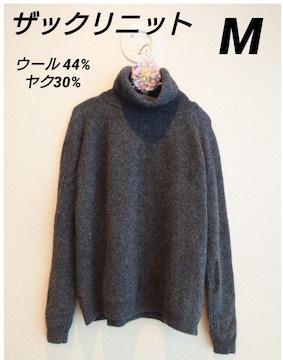 ヤク混の柔らかタートルネックセーター サイズM