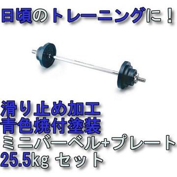トレーニングに!重量調節可能 新品 ミニ バーベル25.5kg STW043