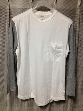 ラッドバイデミリー 九分袖 長袖Tシャツ XS 白×グレー ロンハーマン カットソー ロンT