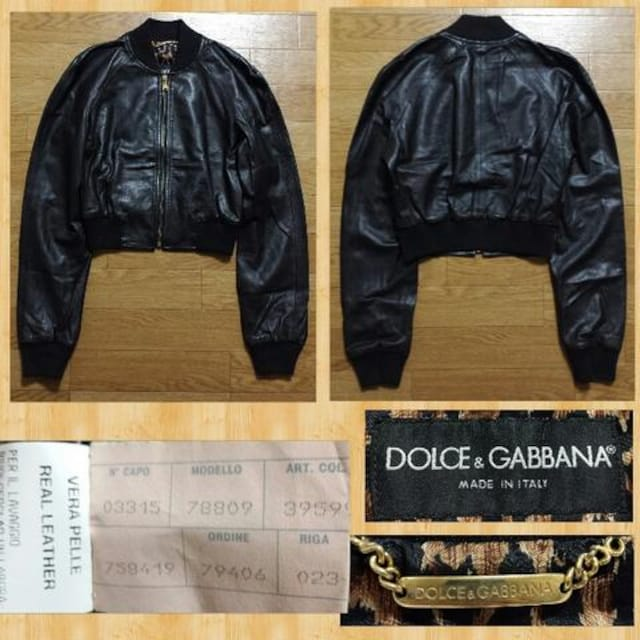 購入45万円 DOLCE&GABBANA ドルチェ&ガッバーナ レザージャケット 三崎商事 < ブランドの