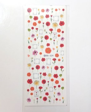 送料込 新品 花 フラワー フレーム ウォーターネイルシール [33]