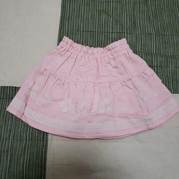 80cm 薄ピンク かわいい スカート ベビー