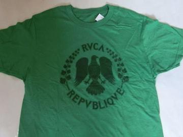 USA購入 ルーカ【RVCA】フランスコイン プリントTシャツ US L 緑