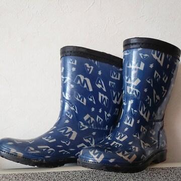 WAM☆ロゴ英字レインブーツ長靴19�p