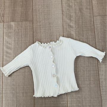 韓国子供服ベビチビカーディガントップスSアイボリー