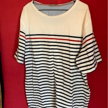 カジュアル★ボーダー☆デザインTシャツ☆サイズ4L