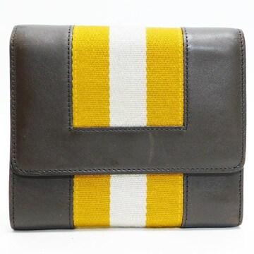 BALLYバリー 三つ折り財布 レザー 茶 良品 正規品