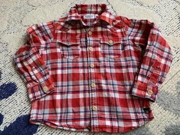 ミキハウス ダブルB チェックシャツ110センチ