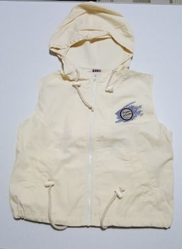 袖無しジップアップパーカー★120�p新品同様です!
