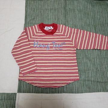 80cm ベビー ロンT シャツ HANG TEN 赤