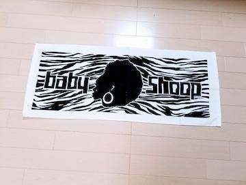 新品◆baby shoop◆白×黒アフロ&ゼブラ柄フェイスタオル