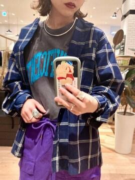 新品!!Ciaopanicバンドカラーチェックシャツ