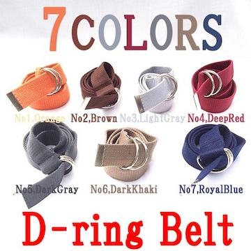 D-RING Dリング ダブルリング キャンバス ベルト 7色 154