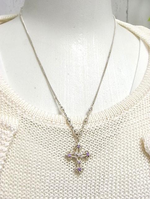 500円スタ★本物正規アナスイ クロス 925製ネックレス