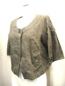 【マリクレール】アースカラーの麻ジャケット