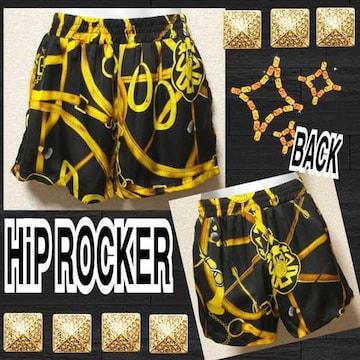 【新品/HiP ROCKER】バブリーベルト柄サテンショーパン