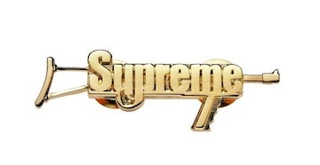 17SS supreme automatic pin gold  ピンバッジ