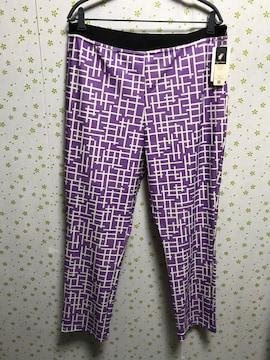 5Lサイズ 黒ベルト 和柄パンツ