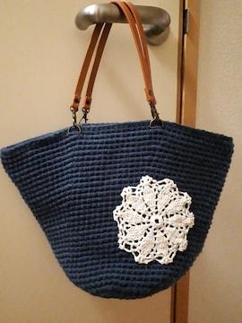 新品ハンドメイド編み物ハンドバッグ