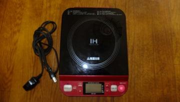 コイズミ IHクッキングヒーター レッド KIH-1201★ジャンク