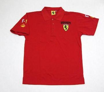 1セール!  フェラーリ ロゴ  ポロシャツ レッド L