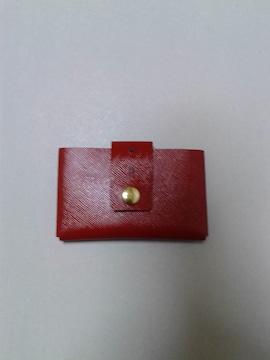 レディース /グッドな革のカードケース / ハンドメイド 新品 !
