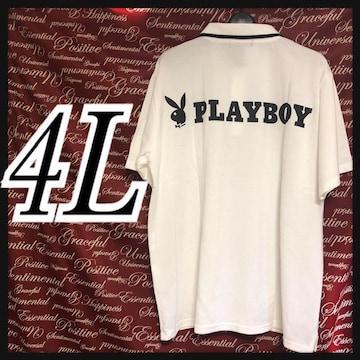 4L・PLAYBOYプレイボーイポロシャツ新品/MCCb-105