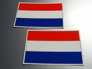 ■オランダ国旗ステッカー2枚セット即買■