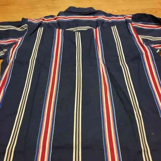Wrangler ★ラングラー  ウェスタンシャツ  ストライプ sizeXL  used < ブランドの