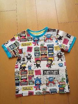中古総柄Tシャツ白partyparty