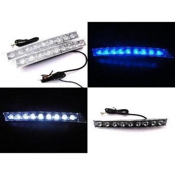 アウディ風 LEDデイライト大 18発 高輝度LED [汎用]ホワイト
