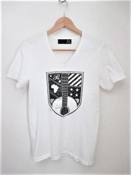 ☆RICO リコ デザイン Vネック Tシャツ/半袖/メンズ/M☆ホワイト