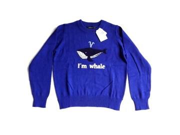 新品 定価4900円 ダブルクローゼット 青  ニット セーター