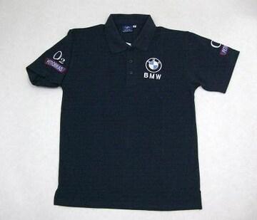 1セール!  BMW ロゴ  ポロシャツ 紺 M