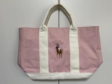 ◆未使用【RALPH LAUREN/ラルフローレン】ミニトート ピンク色◆