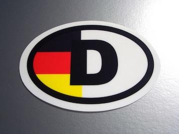 ドイツビークルID国識別ステッカー 国旗