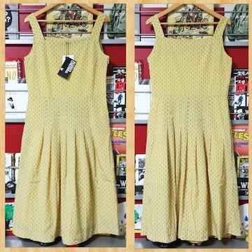 定価9975円 RODEO CROWNS ロデオクラウンズ ワンピース ドレス 柄 イエロー 新品