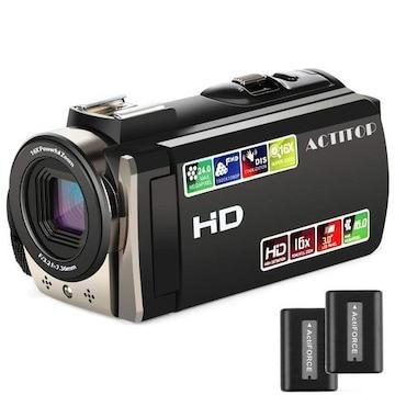 ポータブル ビデオカメラ 2400万画素 HD1080P 16倍